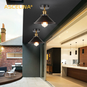 Image 2 - ASCELINA LED Industrial Ceiling Lamp Vintage Chandelier Retro Attic Interior Lighting American Country Restaurant Bedroom Lights