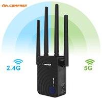 1200 Мбит/с COMFAST CF-WR754AC беспроводной WiFi расширитель диапазона 2,4/5 ГГц двухдиапазонный ретранслятор усилитель сигнала с 4 антеннами Ethernet