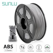 SUNLU ABS black electrical 3D transparent abs filament 1.75mm 1KG/roll for 3d printer with 1.75mm abs for kids designing toys
