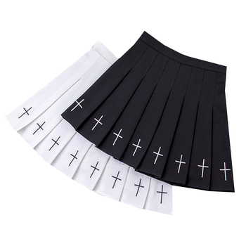 Fashion Women Pleated Skirt Solid Color Summer Lady A-Line Mini Skirts High Waist Chic Female Short Skirts Harajuku Sailor Skirt summer women pleated skirt high waist a line ladies girl mini skirts solid color female pleated skirt fashion chic women skirts