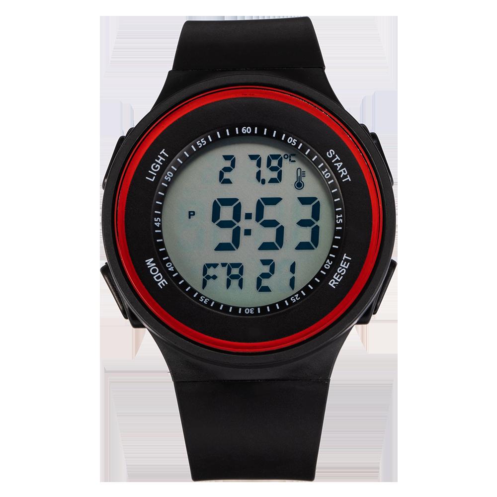 Часы мужские спортивные Senors, многофункциональные водонепроницаемые цифровые с будильником и хронографом, 3 бар