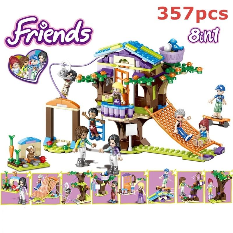357pcs Friends Adventure Camp Tree House 41335 Emma Mia Building Blocks Bricks Figure Kids Toy Compatible Legoinglys For Girls