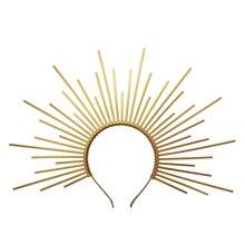 ゴールドスパイクハロークラウンかぶとナイロンジップタイエルフ結婚式の花嫁のヘアバンド女性ヘッドバンドヘッドドレス