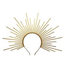 Gold Spike Halo Crown Headpiece NYLON ZIP TIE Elf Wedding Bride Hair Band Women Headband Headdress