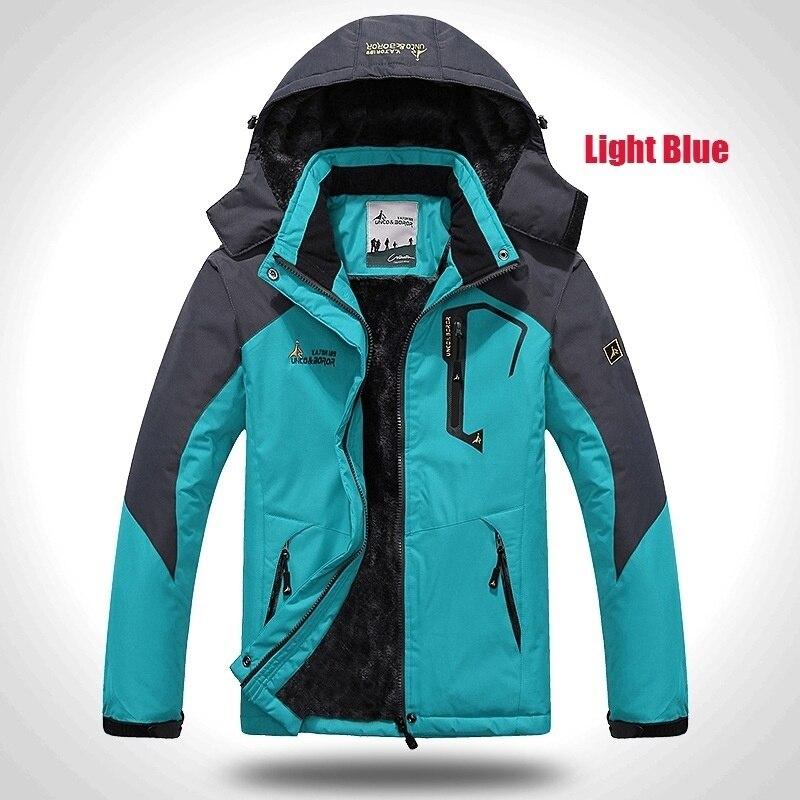 Image 2 - 2019 Winter Jacket Men Thick Velvet Warm Coat Male Windproof  Hooded Jackets Outwear Casual Mountaineering Overcoat 6XL Plus  SizeParkas