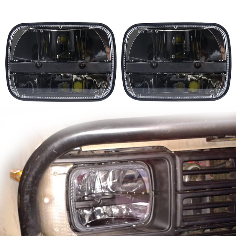The Vectra Led Headlights 30 W 7 Inch Square Lamp Pickup Car Modification Jeep Wrangler Headlight