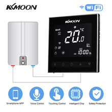 KKmoon Digital Water/Gas Boiler Heating Thermostat with WiFi Voice Control Energy Saving Touchscreen Room Temperature Controller(China)