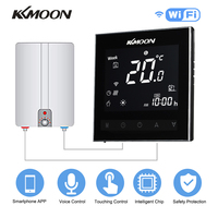 KKmoon Digital Water/Gas Boiler Heating Thermostat with WiFi Voice Control Energy Saving Touchscreen Room Temperature Controller
