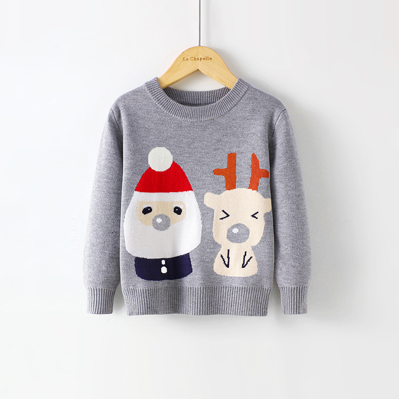 2021 Baby Girls Boys Sweater Christmas Costume Autumn Children Clothing Knitwear Boy Girl Pullover Knitted Sweater Kids Sweaters 4