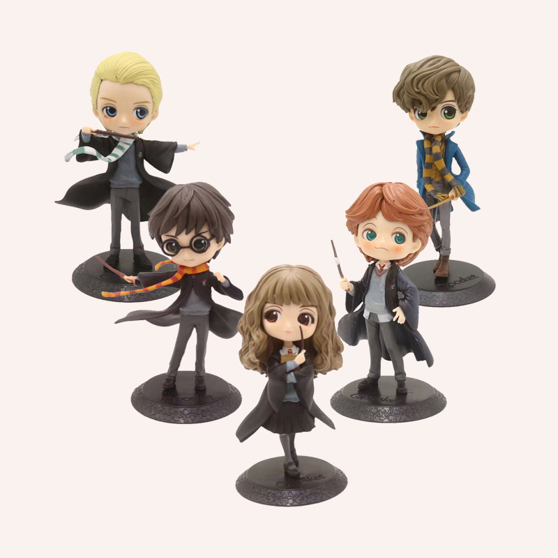 Q Posket Action Figures Toys Hermione Ron Malfoy 15cm PVC Model Toys For Kids Birthday Christmas Gift