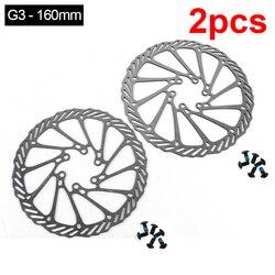 2Pcs  G3 Bicycle Brake CS Sweep Disc Brake Block Lining Rotors Mtb Bike Brake Pad 160/180mm With 12 Bolts System Disc Bike Parts