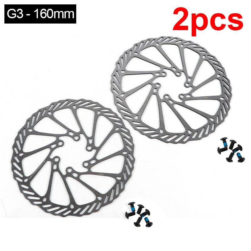 G3 Bicycle Brake CS Sweep Disc Brake Block Lining Rotors Mtb Bike Brake Pad 160/180mm With 12 Bolts System Disc Bike Parts