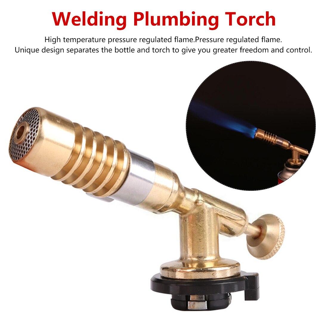 Adjustable Temperature Brass Gas Turbo Torch Aluminum Brazing Propane Weld Plumbing