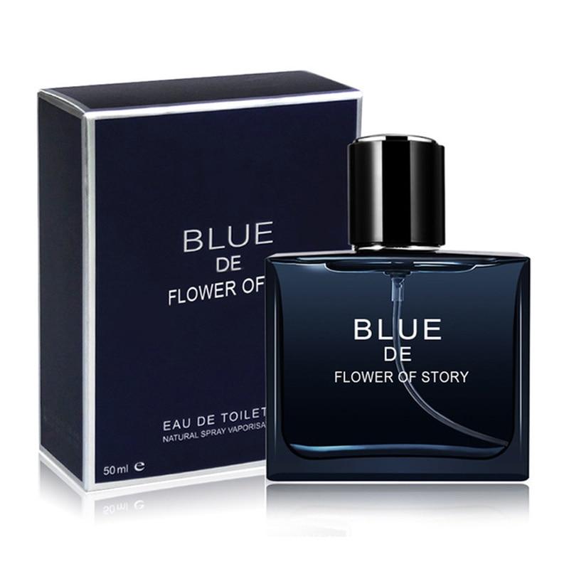 Original Long Lasting Perfume Men 50ML Marine Woody Spray Glass Bottle Parfum Portable Classic Cologne Gentleman FlavorFragrance