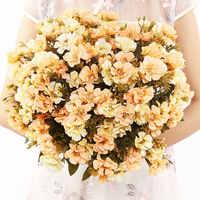 Casa Rifornimenti Del Partito 18 Teste di fiori di Ciliegio Fiori Artificiali FAI DA TE Decorazione di Cerimonia Nuziale Fiori Gypsophila Casa Bouquet Decor