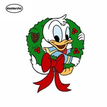 HotMeiNi 13cm x 9.7cm for Baby Donald Duck Car Stickers Vinyl Refrigerator RV VAN Fine Decal JDM Car Accessories Cartoon Anime(China)