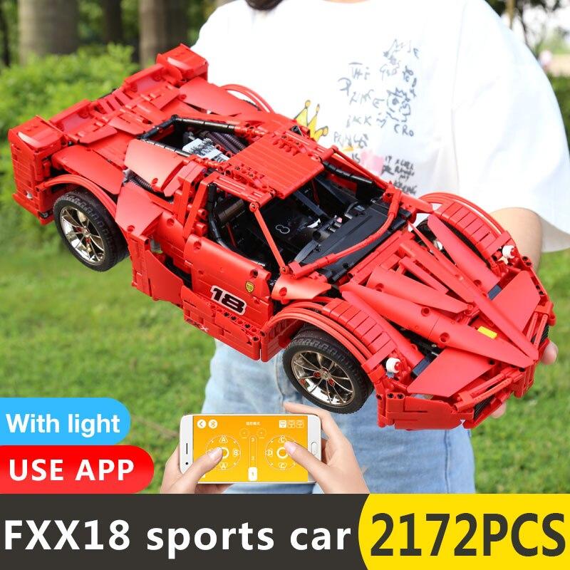 Yeshin 18035 มอเตอร์ฟังก์ชั่นรถ FXX Sport รถแข่งรถความเร็วสูงรถ Technic 1:8 รถเด็กคริสต์มาสของขวัญอาคารบล็อก-ใน บล็อก จาก ของเล่นและงานอดิเรก บน   2