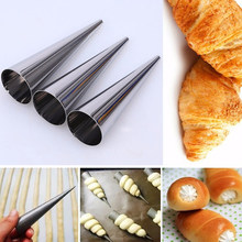 Convenient Croissant Mould Stainless Steel Creative Conical Tube Cone Bread Mould Danish DIY Kitchen Baking Tools(China)