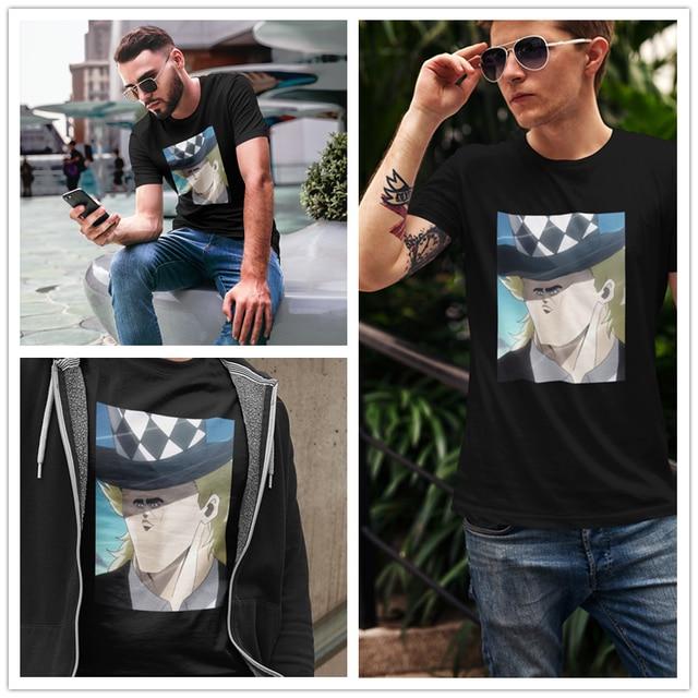 Jojo Bizarre Adventure T Shirt JoJo S Bizarre Adventure Speedwagon Meme T-Shirt Man Fashion Tee Shirt Graphic Tshirt 1