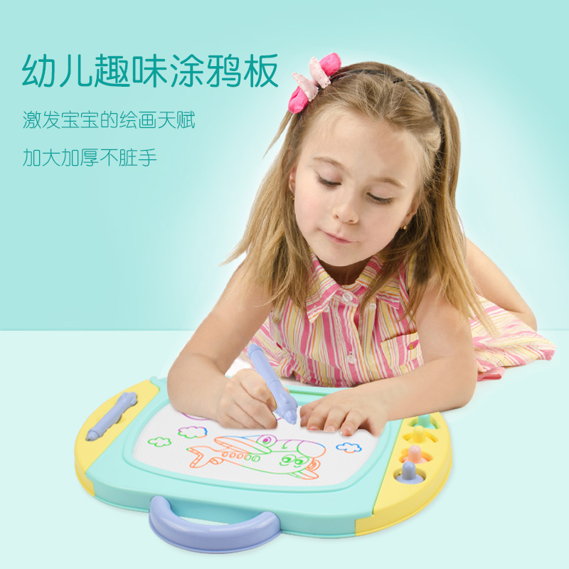 Color Children Large Size Magnetic Drawing Board Baby Educational Toy Boy Early Education 1-3 Years Old Doodle Board WordPad 2