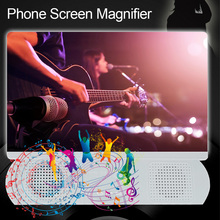 HD Projection Video Universal Phone Screen Magnifier With Bluetooth Speaker Amplifier Movie Enlarger Desktop 10inch Portable
