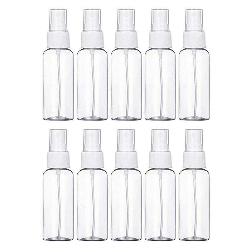 10Pcs Transparent Empty Spray Bottle Plastic Cosmetic Makeup Containers Perfume Atomizer Spray Bottles
