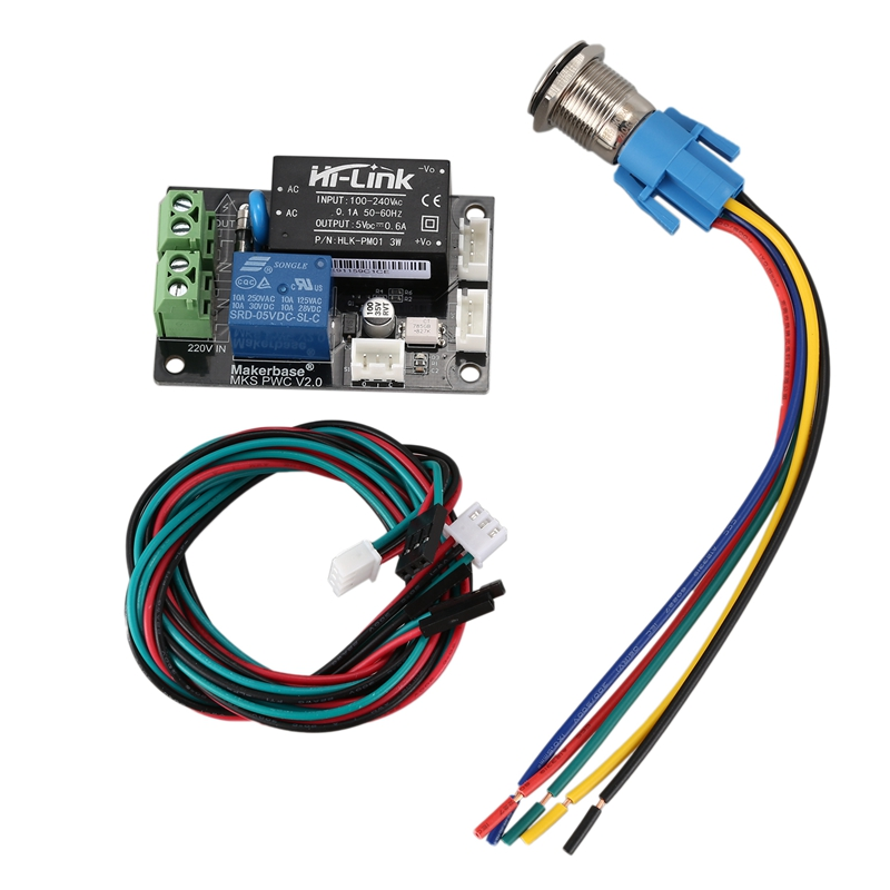 Makerbase MKS PWC V2.0 Auto Off After Printing End Module Power Monitor 3D Printer Things 3D Printing Power-Off Automatic Electr