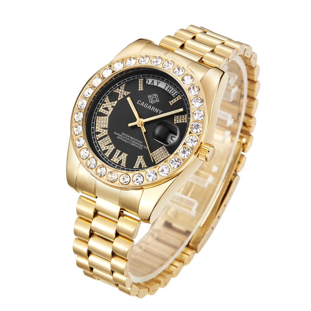 hip hop ice out womens wrist watches role quartz watch for men waterproof diamonds unisex wristwatches free shipping wholesale (7)