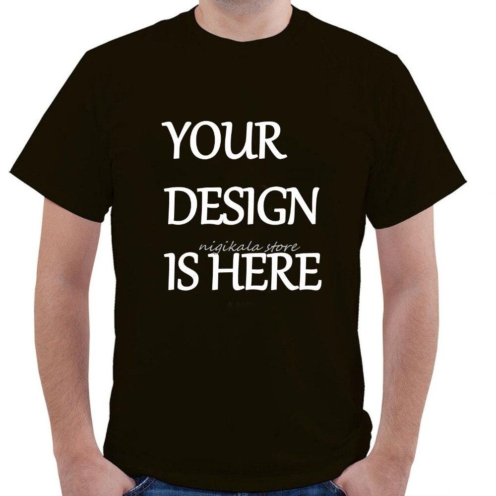Custom Logo Print Free T Shirt O Neck Adult Men Mens OEM  Short Sleeve T-Shirt Custom Personalized Print Free Shipping