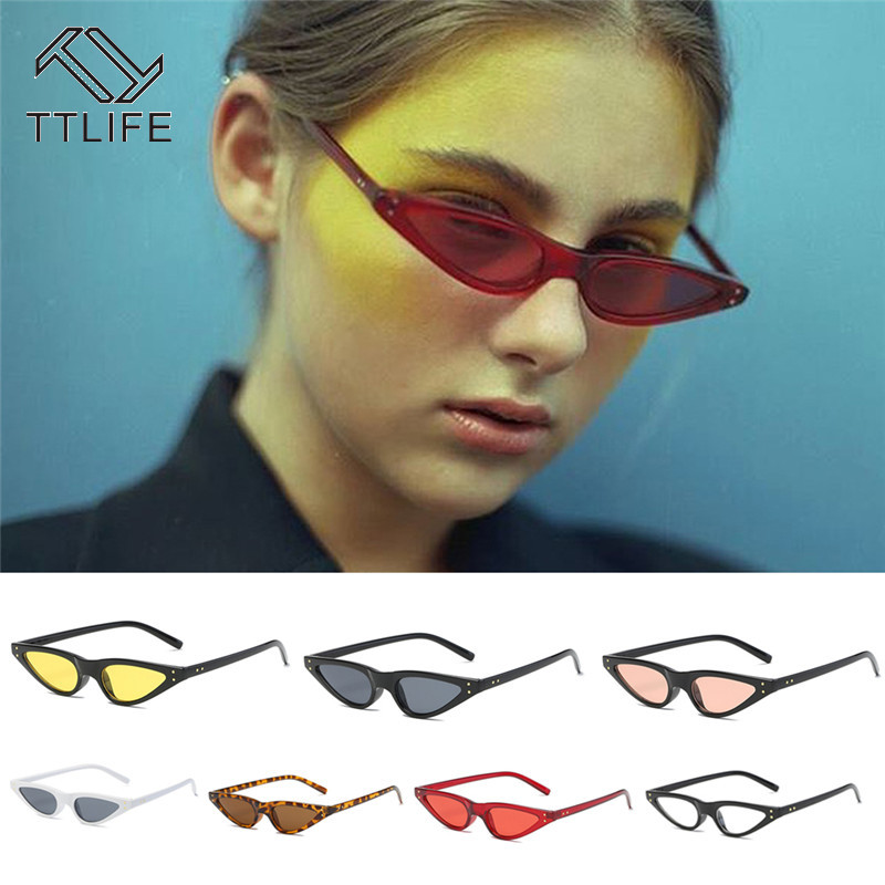 TTLIFE 2019 Mirror Street Beat Sunglasses Women Vintage Glasses Lady Driving Uv400 Men Red Cat Eye Oculos De Sol