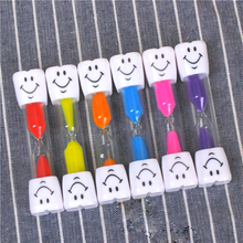 3 Minutes Hourglass Sand Timer Children Toys Hourglass Toothbrush Timer Cartoon Smiling Cooking Game Brushing-Teeth Sands Timer shower sand timer clock glass hourglass toothbrush timer hour glass sand timer hourglass set 15 minutes for cleaning teeth