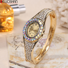 Women Luxury Fashion Jewelry Watches Gold Color Band Dress Q