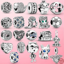 2021 New 925 Sterling Silver Free Hugs Cactus Charm Beads Fit Original Pandora Bracelet Fine Silver Jewelry Gift