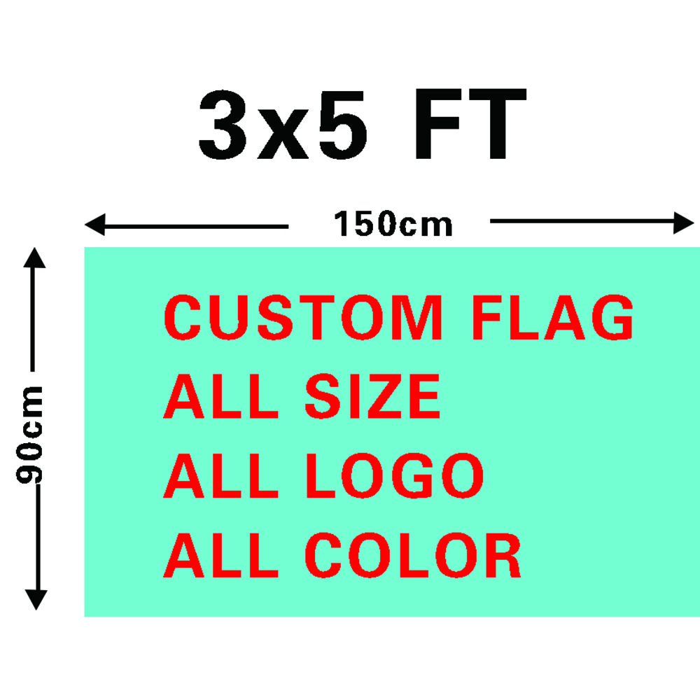 48h Fast Delivery 3X5ft Customized Logo Printing Flags Wholesale Promotional Advertising Flag Banner Custom Normal Country Flag(China)