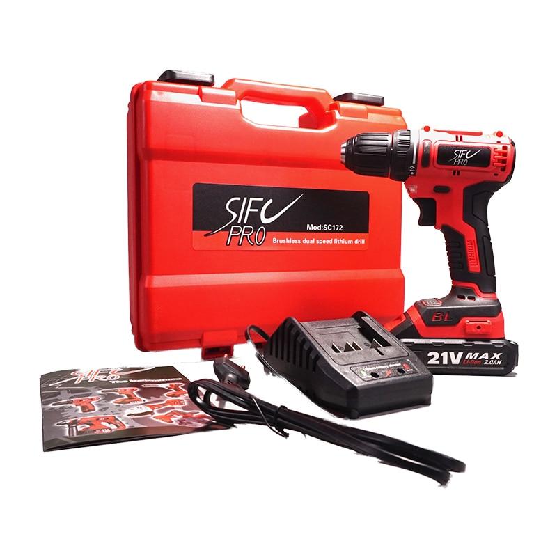 21V MAX Cordless Drill Brushless Motor Max 40N.m Electric Screwdriver SC172 Mini Drill Lithium-Ion LED Light Home DIY