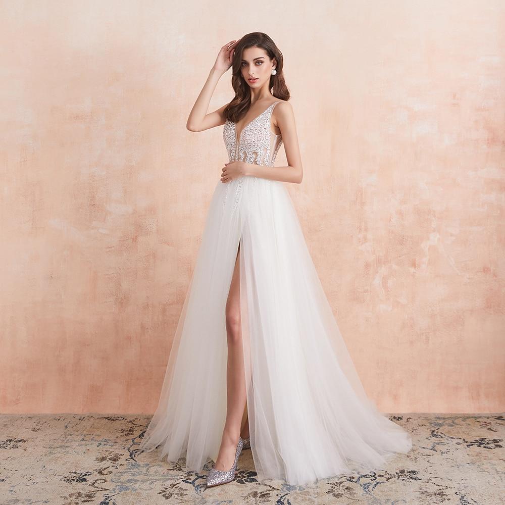 White Ivory Sexy  Bridal Gown Vestido De Noiva 3