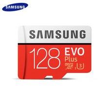 Original SAMSUNG EV0 Plus Micro SD Karte Speicher Karte 128GB SDXC C10 U3 TF Karte Mit Adapter-Karte für Telefon/Kamera/Drone