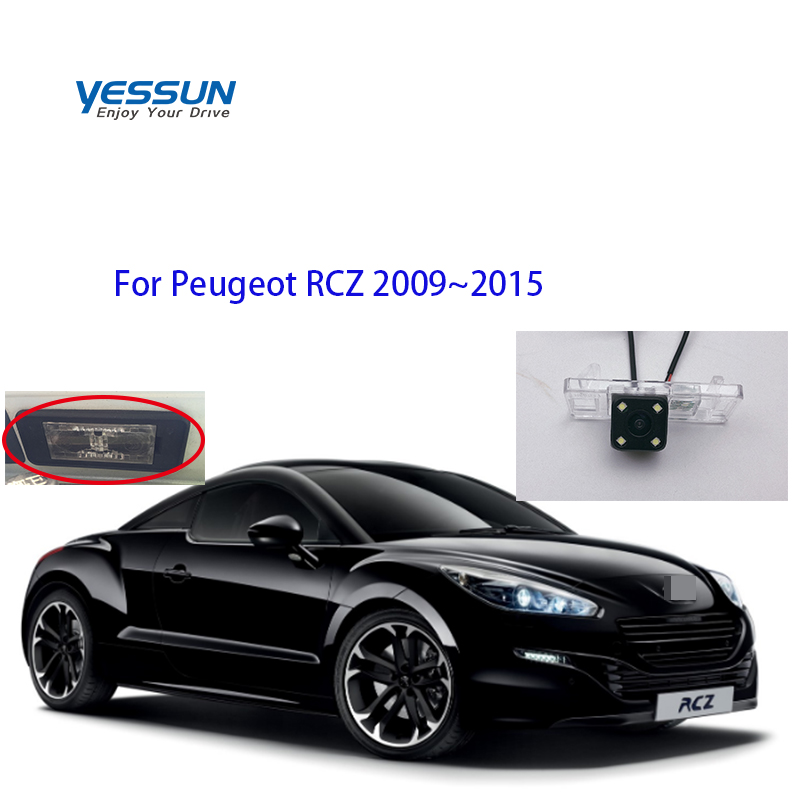 Yessun Auto Car Accessories License Plate Camera Car Rear View Reverse Backup Camera Waterproof For Peugeot RCZ 2009~2015