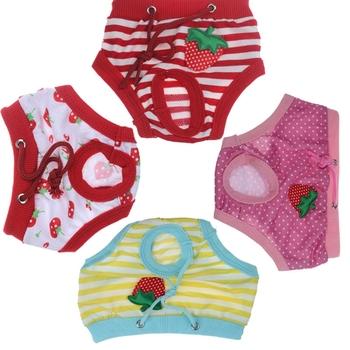 Nowy przyjeżdża zabawka piesek fizjologiczne spodnie higieny menstruacyjnej estras dziewczyna szczeniak okres miesiączki majtki dropshipping tanie i dobre opinie KEMISIDI Na wiosnę jesień 100 bawełna Stałe