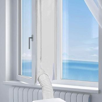 Uszczelka okienna AirLock na przenośny klimatyzator elastyczna uszczelka okienna o grubości 400 Cm z zamkiem błyskawicznym i klejem tanie i dobre opinie CN (pochodzenie)