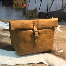 EUMOAN Tree cream retro bag wash water vegetable tan skin fashion lady handbag цена