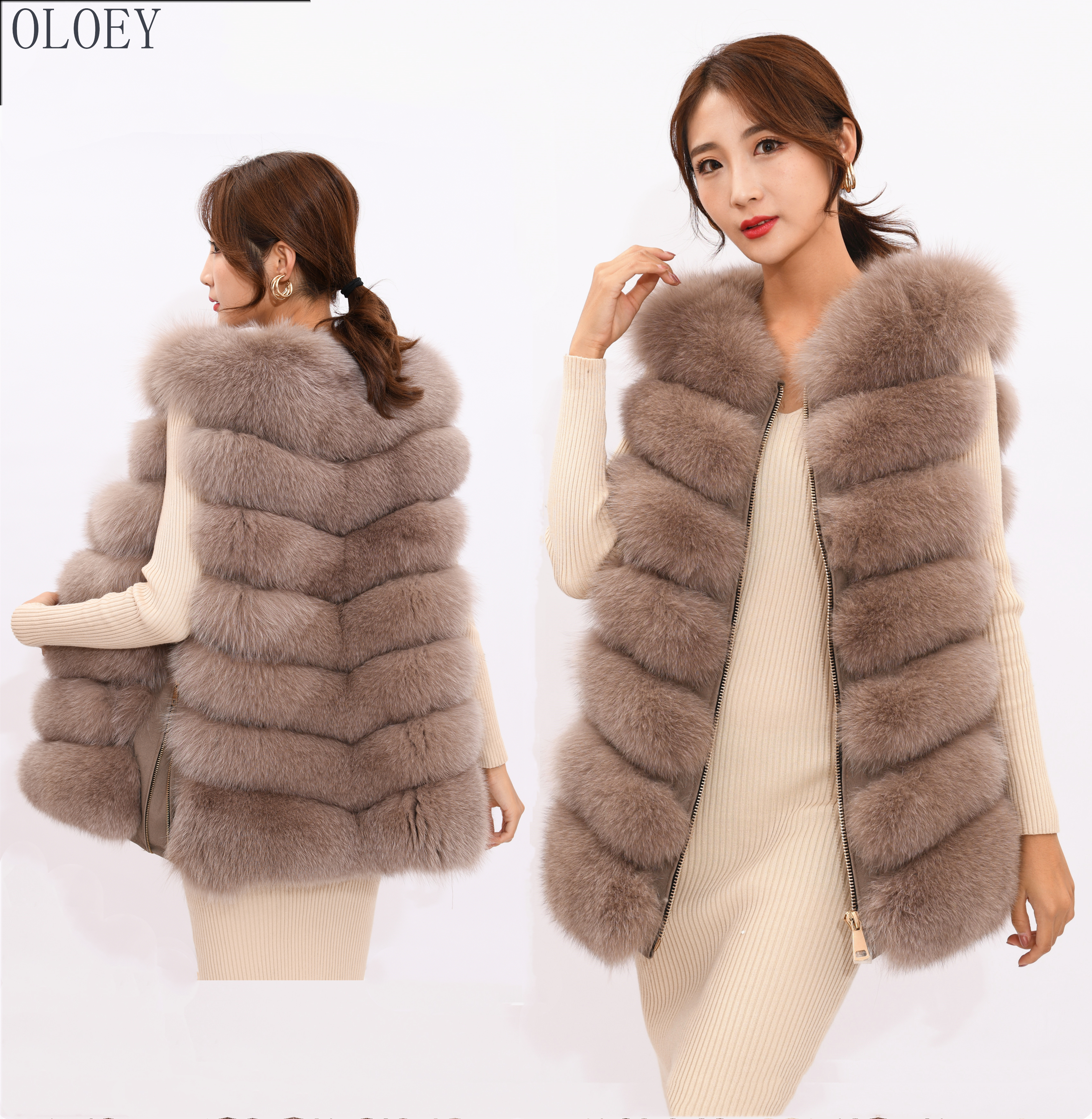 2019 new women's winter real fox fur vest, real fox fur jacket, 100% natural real fur coat, high quality stylish warm sleeveless-in Real Fur from Women's Clothing