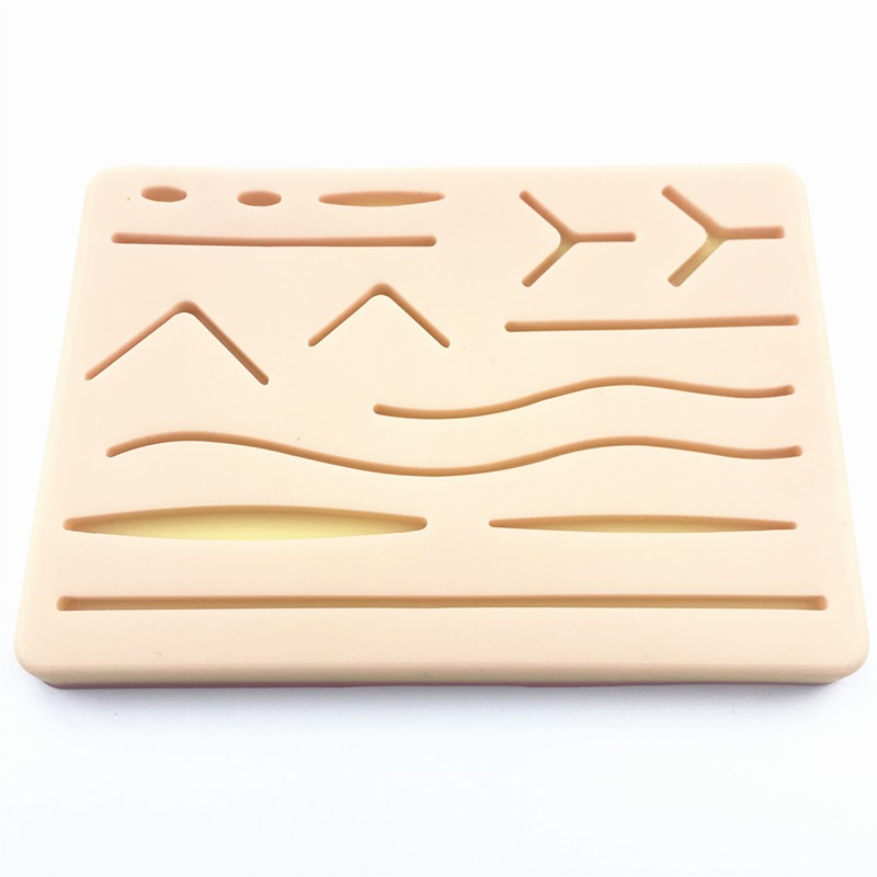 Skin Suture Model Silicone Skin Anatomy Model With Wound Shape Surgery Practice
