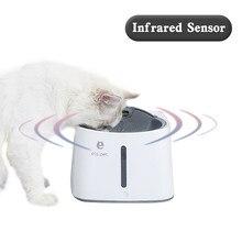 Sensor infravermelho 1.5l automático fonte de água do gato do animal de estimação usb cão gato animal estimação mudo bebedor alimentador tigela pet potável fonte dispensador