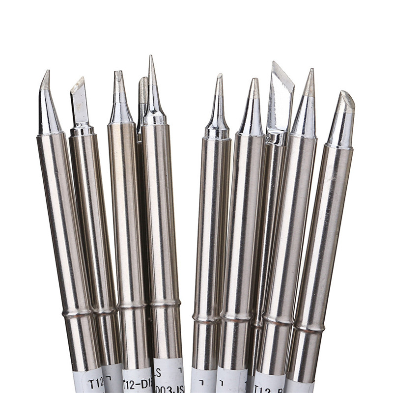 Soldering Iron Head 155mm 10pcs Tools Tips Tips T12 Solder Alloy Set Welding Tips Soldering Free Iron Soldering Lead Drillpro