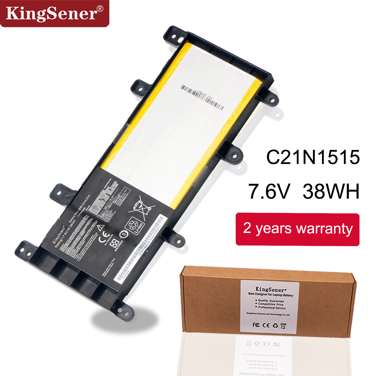 KingSener C21N1515 Laptop Battery For ASUS VivoBook X756 X756UA X756UJ X756UX X756UB X756UQ X756UV X756UW 7.6V 38WH