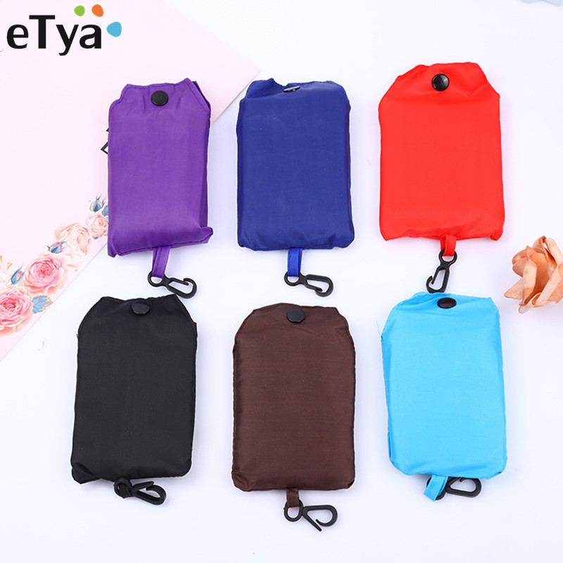 ETya Foldable Shopping Bag Women Men Reusable Shopping Bag Fruit Vegetable Grocery Eco-Friendly Grocery Tote Bags
