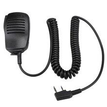 2 دبوس Ptt الثقيلة المتكلم Mic للماء ل كينوود Puxing Wouxun Tyt Hyt Baofeng Uv5R 888S راديو