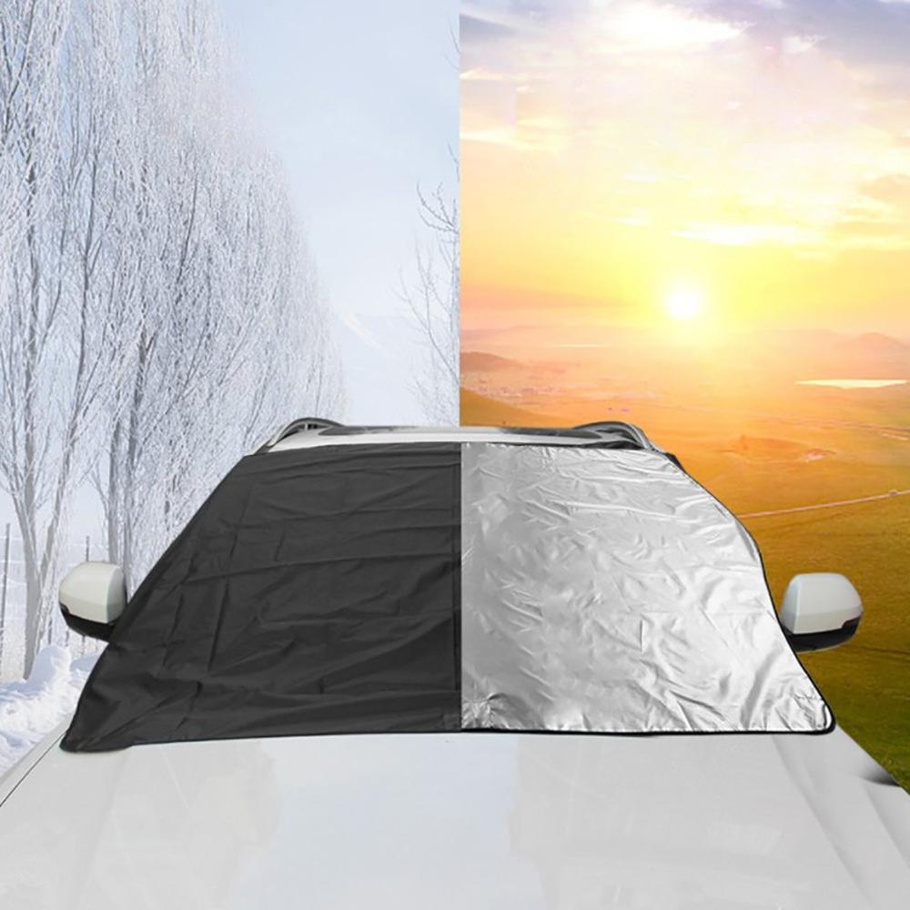 2 In 1 Dual Use Car Covers Window Sunshade Auto Window Sunshade Cover Sun Reflective Shade Windshield For Cars|Windshield Sunshades| |  -