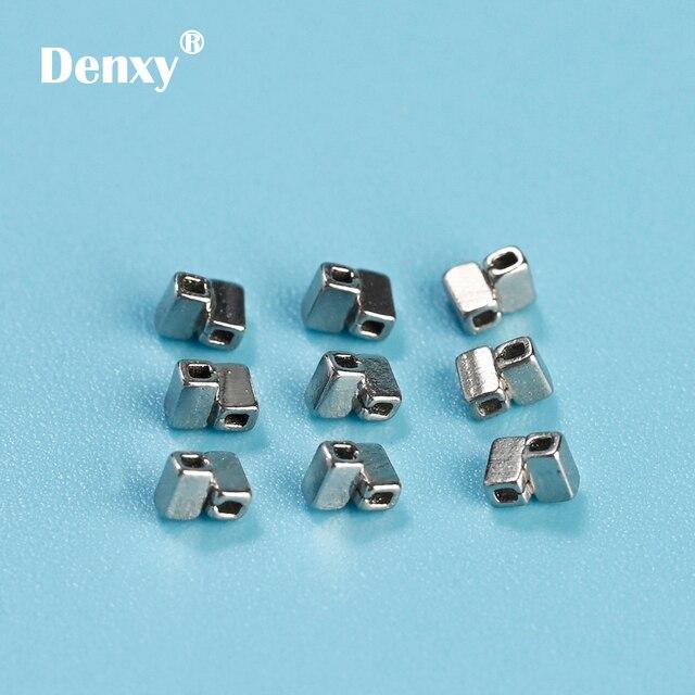 Denxy-50pcs Dental Crimpable Cross Tube Ortho stops Orthodontic Crimpable Hooks Orthodontic Split stops Orthodontic bracket